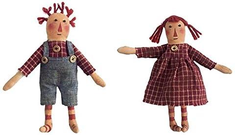 Sortie Craft Inc 22,9cm Tissu Raggedy Ann & Andy Doll Set, Multi