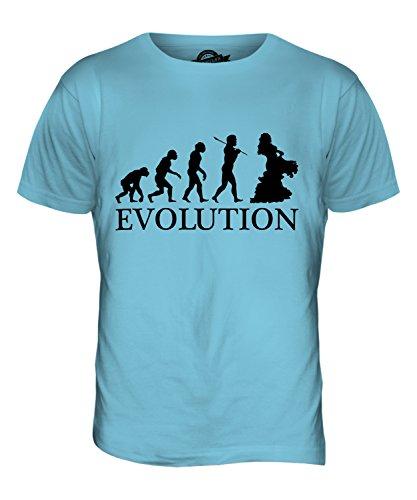 CandyMix Orientalischer Tanz Bauchtanz Evolution Des Menschen Herren T Shirt Himmelblau