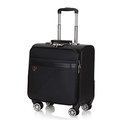 CX TECH 4 Räder Business Trolley Fashion Trolley Deluxe Laptoptasche Business Kombinationsschloss Leichte Mobile Office Bag (16 Zoll) -