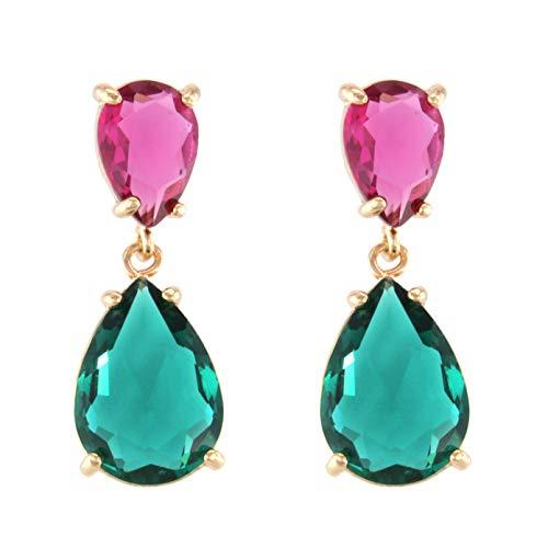 Tempus fugit orecchini pendenti da donna placcati in oro con cristalli colorati brillanti. confezione regalo inclusa. e placcato oro, colore: b, cod. 1110300401002