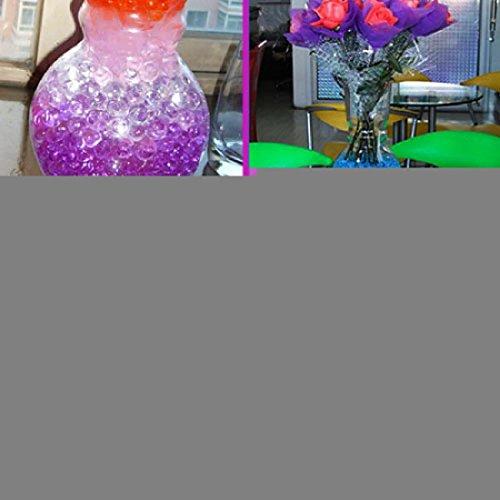 50g Wasser Aqua Kristall Erde Gel Ball Perlen Vase Mittelpunkt Hochzeit New Stoßdämpfender rund Home Dekoration, Violett