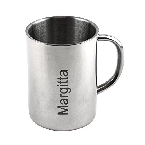 Lantelme 4304 Edelstahltasse mit individueller Gravur Edelstahl Thermo Tasse doppelwandig als Geschenk Idee