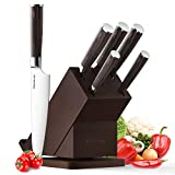 Knife Set, Homever Kitchen Knife Set 6-Piece Stainless Steel with Wood Handle, Rotatable