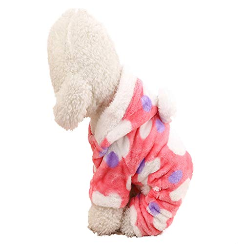 SSH Katze Hund Kapuzenshirts Overall Pyjamas Hundekleidung Punkt Rosa Polar-Fleece Kostüm Für Husky Labrador Golden Retriever Herrn Damen (Labrador Retriever Kostüm)