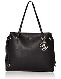 Guess borse shopping fucsia u lea&flo rosa shopper bag