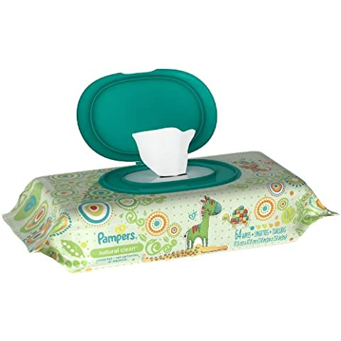 Pampers Natural Clean Baby Wipes - 64 ct, Size 64 ct by Pampers