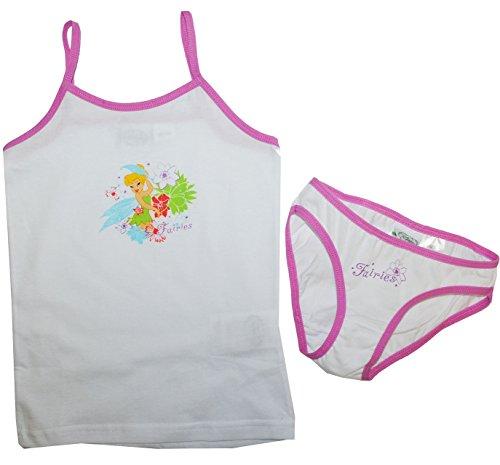 Hemd und Slip  Disney Fairies - Tinkerbell Fairy  Größe 110 / 116 weiß rosa ()