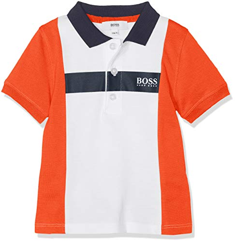 BOSS Baby-Jungen Poloshirt Polo Manches Courtes Weiß (Blanc Rouge N79) 6-9 Monate...
