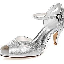 ZQ Zapatos de boda-Sandalias-Punta Abierta-Boda / Vestido / Fiesta y Noche-Plata-Mujer , 2in-2 3/4in-silver