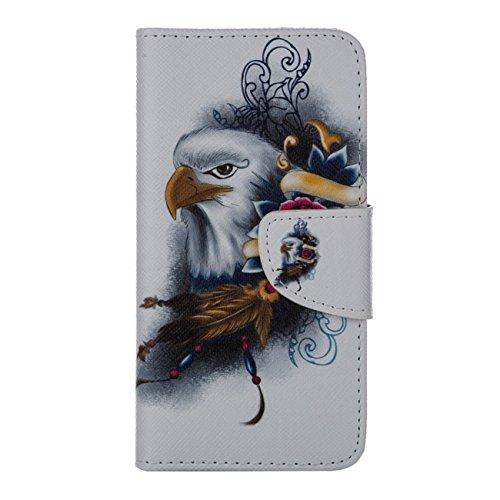 MOONCASE Étui pour Apple iPhone 6 / 6S (4.7 inch) Printing Series Coque en Cuir Portefeuille Housse de Protection à rabat Case Cover XK13 XK18 #0226
