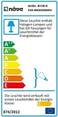 """Naeve Leuchten Halogen-Deckenkrone """"Act"""" 115-150 cm. ca. 50 cm. 811814 von Naeve Leuchten GmbH auf Lampenhans.de"""