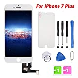 Hoonyer For iPhone 7 Plus Screen Replacement White LCD Display Touch Screen Digitizer Frame Assembly Full Set with Free Tools (iphone 7 plus, white)