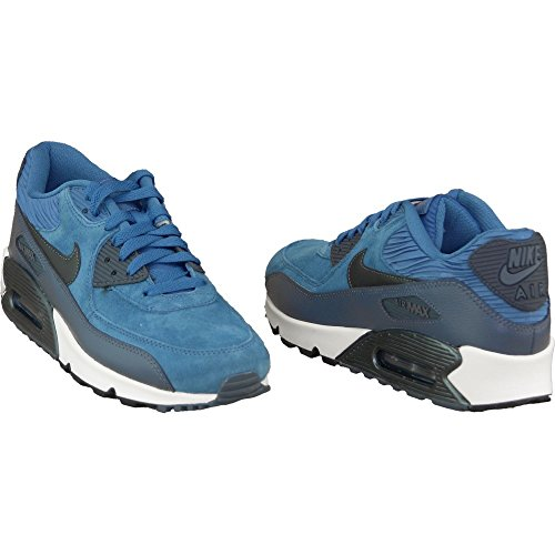 Nike Air Max 90 Leather Women Schuhe brigade blue-metallic armory navy-squadron blue – 38,5 - 5