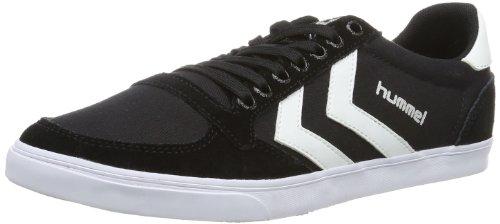 hummel Unisex-Erwachsene Slimmer Stadil Low Sneakers, Schwarz (Black/White KH), 43 EU (9 Erwachsene UK)