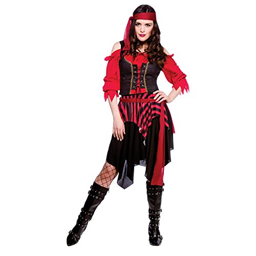 Shipwrecked Pirate Adult budget Fancy Dress Ladies Costume