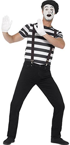 Imagen de hombres adultos fancy dress disfraz halloween hombre mime artist
