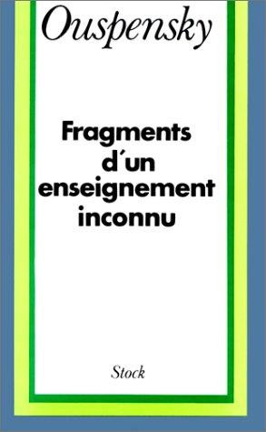 Fragment d'un enseignement inconnu