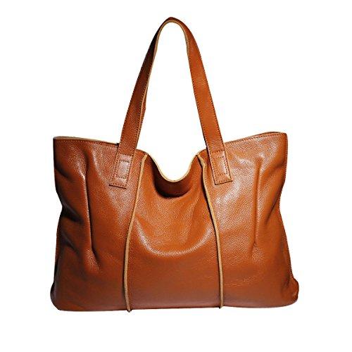 Frauen Neue Art Und Weise Schulter-Top Griff Tasche Damen Freizeit Kreuzkörper Brown