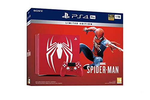 PS4 Pro 1 To B Marvel's Spider-Man Limited Edition + Marvel's Spider-Man - Standard + Edition
