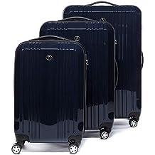 FERGÉ Juego de 3 Maletas rigidas de Viaje candado TSA Cannes Equipaje de Trolley Dura Spinner
