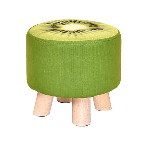 Xuan - Worth Having Kiwi Vert Motif Woody Tabouret à Quatre Piedes Bas Tabouret Créatif Enfant Canapé Tabouret (29 * 29 * 28 cm)