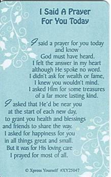 Xpress Yourself Geburtstagskarte mit englischsprachiger Schriftzug 8,26 cm x 5,08 cm - I Said A Prayer For You heute XY25047 hier kaufen