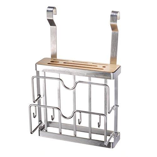 Küche Cutting Rack Board (Messerhalter, MaxTronic 304 Edelstahl Küchenhalter Platzsparend Cutting Board Holder Mehrfunktional Chopping Board Rack für Schneidbrett, Messer, Küchenutensilien, Küche Supplies)
