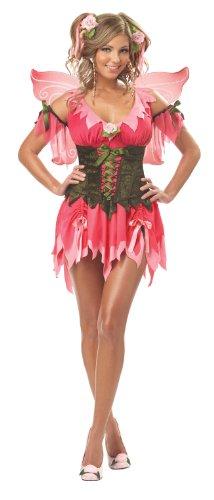 Mega Fancy Dress Deluxe Rose Fairy Kostüm Fairytale Damen Eye Candy Kostüm + - Candy Dress Kostüm