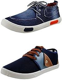 Leewon Men's Combo Pack Of 2 Casual Sneakers