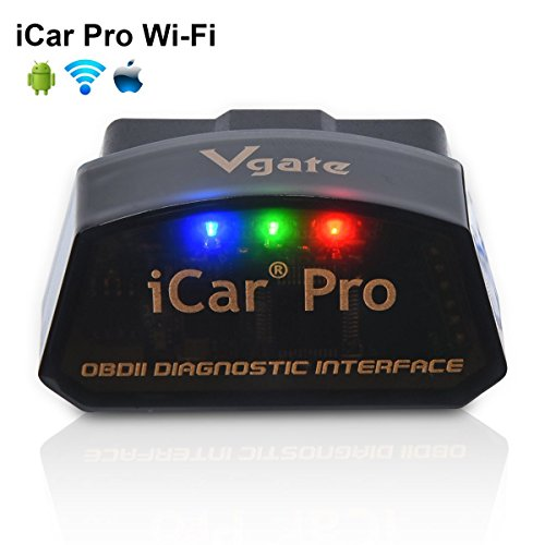 Wifi Bluetooth Handy (Vgate iCar Pro Wi-Fi OBD2 OBDII Auto Diagnose-Tool Check Engine Licht für iOS iPhone iPad/Android Kompatibel mit ELM327 Adapter)