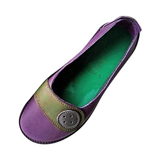 Hotsell?????Womens Loafer, Women's Soft Loafers Flat Mocassins Boat Shoes Casual Slip On Driving Shoes Walking Slippers Retro Flats Chocolaticas Shoes
