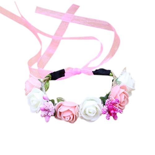 Outflower Romantische Hochzeit Braut Armband Blume Schmuck - Brautjungfer/Schwester Blume Simulation Rose Handgelenk Blume - Hochzeit liefert