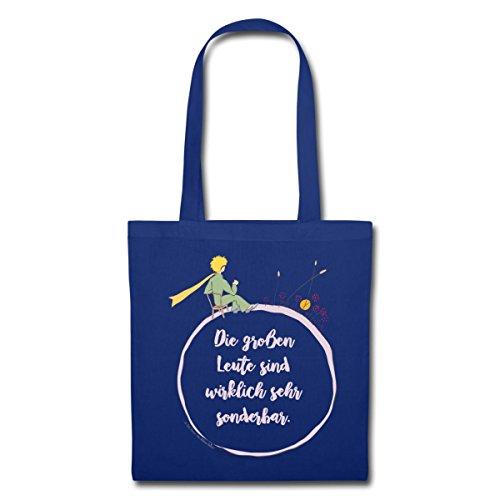 Spreadshirt Der Kleine Prinz Schaut Zum Sonnenuntergang Stoffbeutel Royalblau