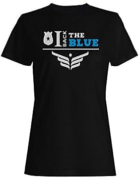 Vuelvo El Azul camiseta de las mujeres k657f