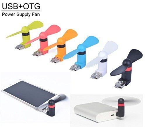 Voltac Micro/USB 2-in-1 OTG Fan Mini Small Portable Rotating Cooler USB Desk...