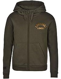 Lonsdale London Sweat zippé à capuche pour femme Kaki à capuche Sweat Veste Vêtements de sport