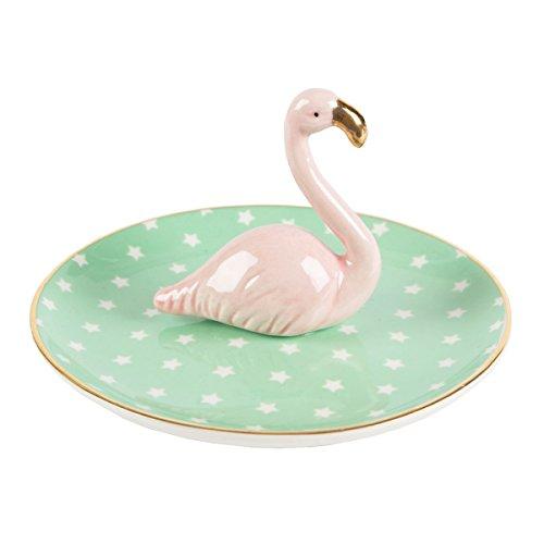Produktbild bei Amazon - Sass & Belle Schmuckständer Teller Flamingo (lumi030)