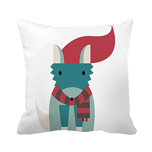 warrantyll Christmas Cute Deer Home Baumwolle dekorative Kissen quadratisch Überwurf Kissen Bezüge, baumwolle, #Color 1, 26*26 - Deer Dekorative Kissen