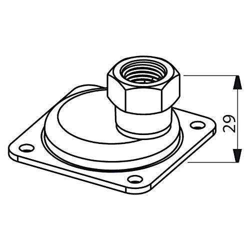 /24/LTR /con diametro interno//esterno della flangia 120/mm//90/mm 20/ Membrane per autoclave/
