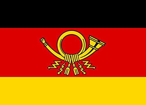 magFlags Flagge: XL An Dienstkraftwagen des Staatssekretärs im Bundesministerium für das Post- und Fernmeldewesen | Querformat Fahne | 2.16m² | 120x170cm » Fahne 100% Made in G