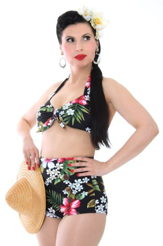 Sugar Shock 50er retro Hawaii Blüten Pin Up Bikini Rockabilly Pin Up