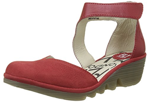 FLY London Damen Pats801fly Riemchenpumps Rot (Lipstick Red)
