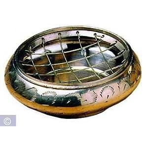 Berk Räuchergefäß aus Messing (ø 8 cm), mit Netzeinsatz