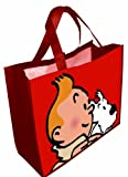 Waterproof Red Bag Tintin and Snowy 45x38x20cm (04227)