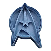 Cuticuter Star Trek Insignia Moule de Biscuit, Bleu, 8 x 7 x 1.5 cm