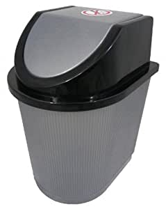 Silver Effect Mini Hobby Desktop Plastic Waste Dust Bin