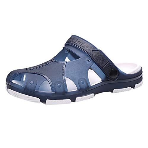Clearance Sale [EU36-EU49] ODRD Schuhe Herren Männer Herren Sommer Schuhe Sandalen atmungsaktiv lässig Outdoor rutschfeste Strand Slipper Combat Worker Laufschuhe Wanderschuhe Sneakers Sport