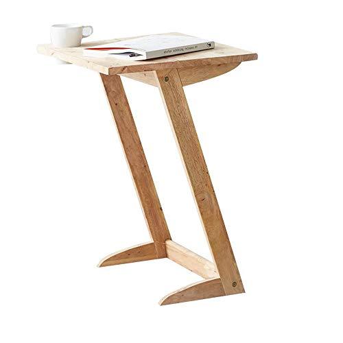 Zr-tavolo da parete legno massiccio angolo-side tavolino da caffè creativo tavolino del divano mensola -salva lo spazio