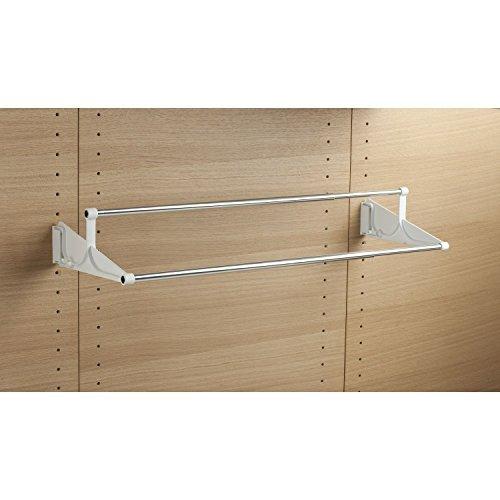 GedoTec® Wand-Schuhablage ausziehbar TAC Schuhregal zum Schrauben an die Wand | Breite einstellbar: 510 - 1000 mm | Schuh-Halter Kunststoff weiß | Markenqualität für Ihren Wohnbereich