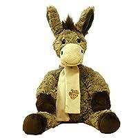 X J Toys 510173 Donkey Plush Toy, Brown, 23 cm